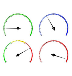 blank gauge round scale vector image