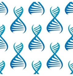 Blue DNA helices seamless pattern vector image vector image