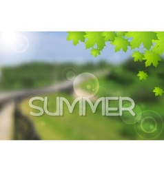 Bright green summer landscape design vector image