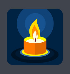 candle concept background cartoon style vector image