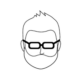 Dotted shape default avatar man to social user vector
