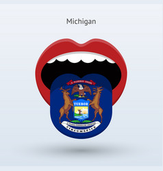 Electoral vote of michigan abstract mouth vector