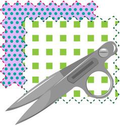 Fabric scissors vector