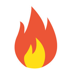 Flammable symbol flat icon logistic vector