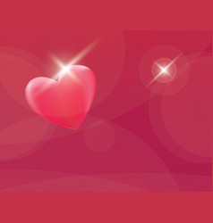 heart romantic red background vector image
