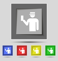 Inspector icon sign on original five colored vector