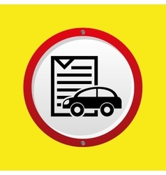 Insurance car policy paper icon vector