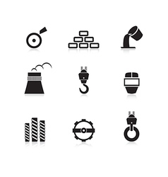 Metal industry icon set vector image