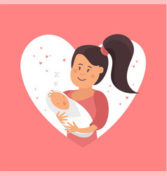 mom and baby symbol of love vector image