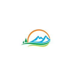 Mountain landscape nature beauty logo vector