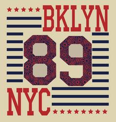 New york brooklyn sport typography t-shirt vector