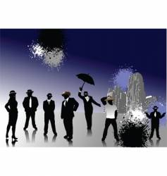 people with hats vector image vector image