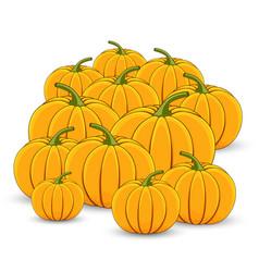 pile of orange pumpkins on a white background vector image vector image