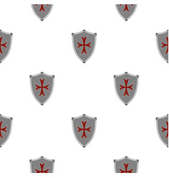 Protective shield pattern flat vector