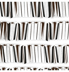 Seamless black books on white background pattern vector image