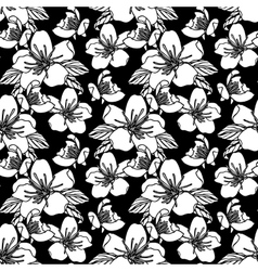 Seamless pattern with flowers stock vector image vector image