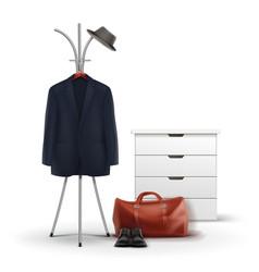 Set of wardrobe stuff vector