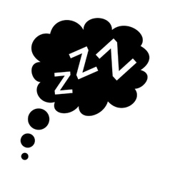 Sleep black icon vector image
