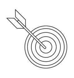 Target arrow strategy market thin line vector
