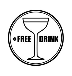 Thin line free drink icon vector