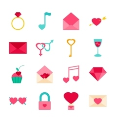 Valentines day objects vector