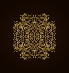 Vintage gold decorative element vector