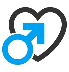 Male love flat icon vector