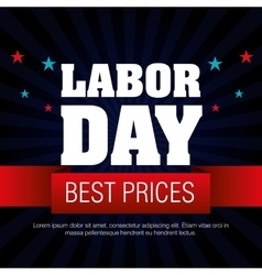 Labor day sale big isolated icon vector