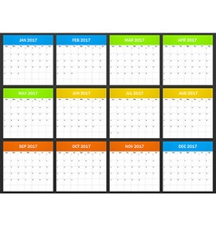 USA Planner blank for 2017 Scheduler agenda or vector image