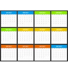 Usa planner blank for 2017 scheduler agenda or vector
