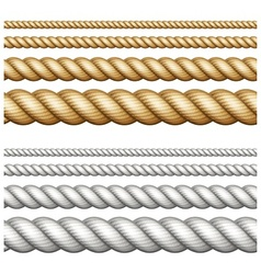 Set of ropes on white vector