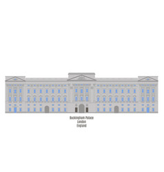 Buckingham palace london united kingdom vector
