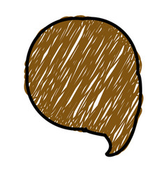 Brown color pencil drawing silhouette of circular vector