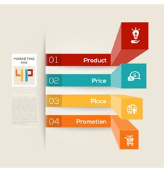 4p business marketing concept vector