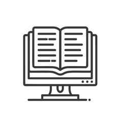 online education - modern single line icon vector image