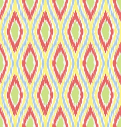 Ikat ogee diamonds vector