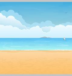 Tropical Beach Vacation vector image