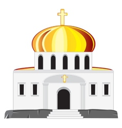 Church with dome vector