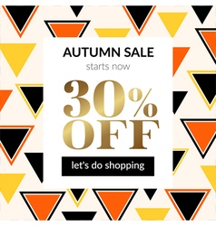 Autumn sale background with pattern vector