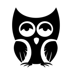 Owl black icon vector image