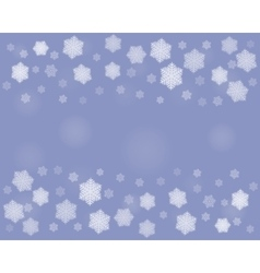 Dark christmas snowflakes background vector