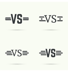 Versus sign vecctor vector
