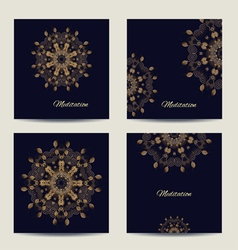 Set of square cards or invitations with mandala vector