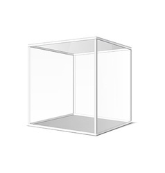 Abstract transparent box on grey background eps 10 vector