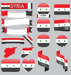 Syria flags vector