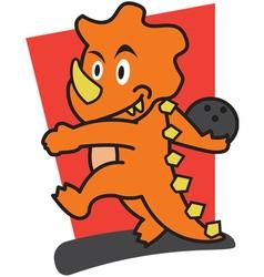 Dinosaur bowling vector