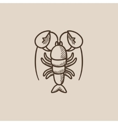 Lobster sketch icon vector