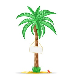 palm tree with sign 03 vector image