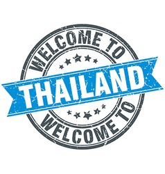 Welcome to thailand blue round vintage stamp vector