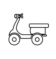 Motorcycle icon delivery and shipping design vector